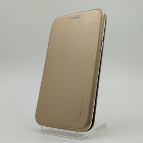 Кожаный противоударный чехол-книжка Nillkin Samsung Galaxy S8 Gold