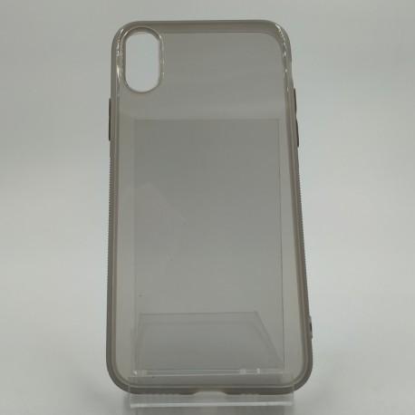 Чехол силиконовый REMAX ультратонкий тонированный iPhone X Gray