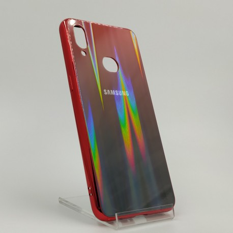 Gradient Glass Case Samsung A10S wine-colored