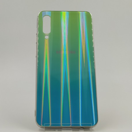 Gradient Glass Case Samsung A50 aquamarine