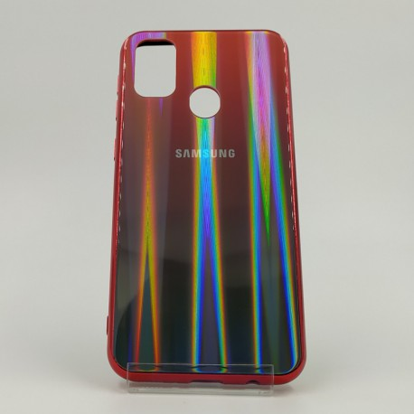 Gradient Glass Case Samsung M30S wine-colored