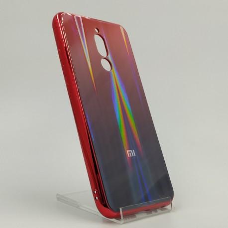 Gradient Glass Case XIAOMI Redmi8 wine-colored