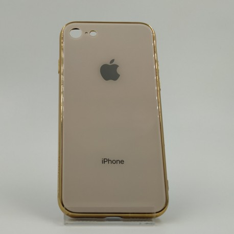 Стеклянный чехол Glass Case для iPhone iPhone 7G Gold