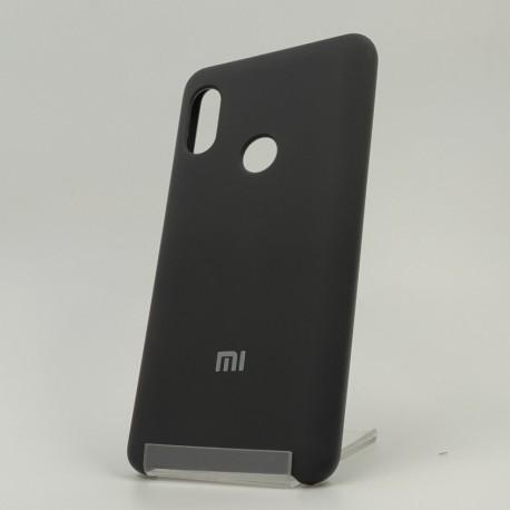 Оригинальный матовый чехол Silicone Case Xiaomi Redmi Note 5 Black