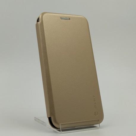 Кожаный противоударный чехол-книжка Nillkin Samsung Galaxy J3 2016 J310/J320 Gold (Золотой)