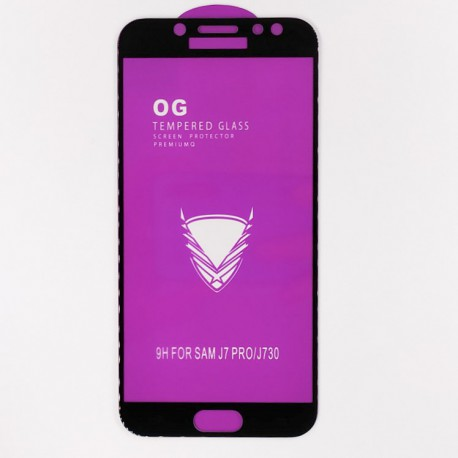 Защитное стекло Full Glue Glass Samsung Galaxy J5 2017 J530 Black (Черный)