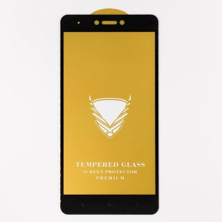 Защитное стекло Full Glue Glass Xiaomi Redmi Note 4X Black (Черный)
