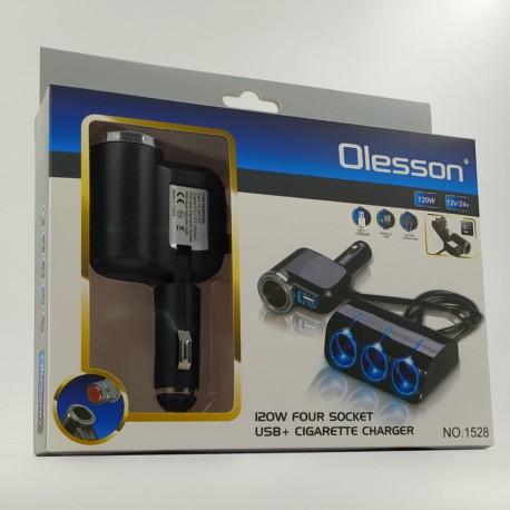Четверник в прикур+USB+под прикур Olesson 1528