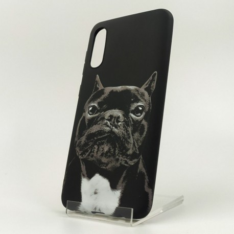 NEW LUXO Stylish Bulldog Samsung A50 Black