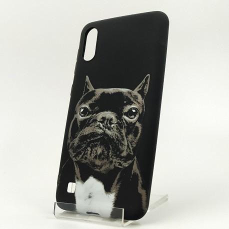 NEW LUXO Stylish Bulldog Samsung A30 Black