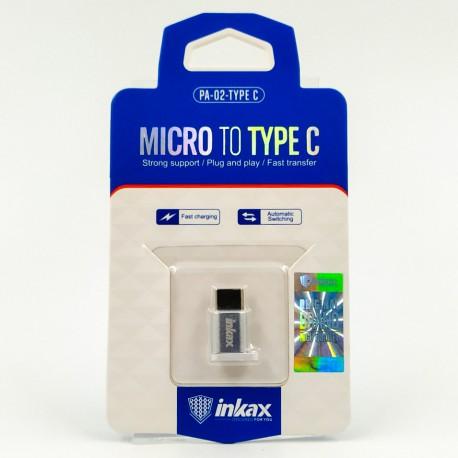 перех с ЗУ micro USB на TYPE-C Hoco UA8/Inkax PA-02