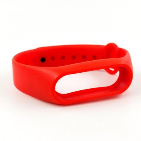 Силиконовый ремешок браслет для Mi Band 2 Red