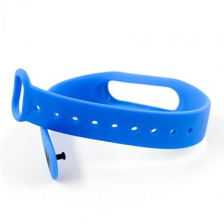 Силиконовый ремешок браслет для Mi Band 2 Blue