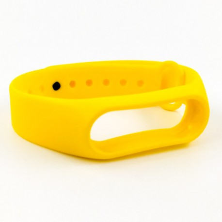 Силиконовый ремешок браслет для Mi Band 2 Yellow
