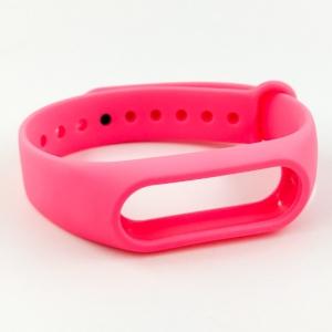 Силиконовый ремешок браслет для Mi Band 2 Pink