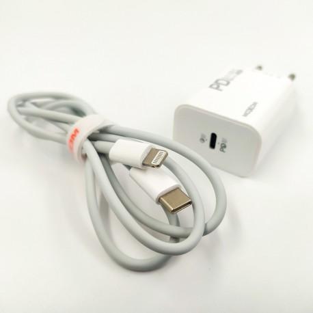 СЗУ 2в1 MOXOM MX-HC25 Type-c/Lightning Fast Charge