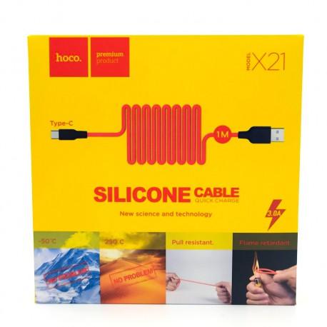USB HOCO X21/U46 (-50*) Super Silicone Type-C Colorful