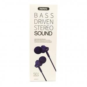 Вакуумные наушники с микрофоном Remax RM-501 Black