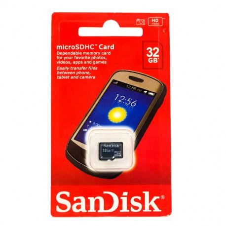 Карта памяти microSD SanDisk 32 Gb 4 Class