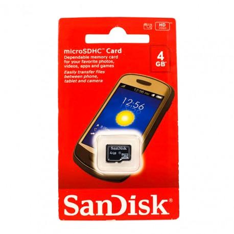 Карта памяти microSD SanDisk 4 Gb 4 Class