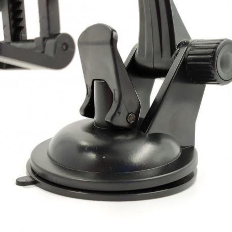 Автомобильный держатель для телефона с дополнительной фиксацией на стекло