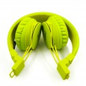 Накладные Bluetooth стерео наушники NIA X2 Light-green