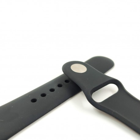 Силиконовый ремешок с софт-тач покрытием Watch 42-44мм Black