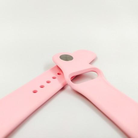 Силиконовый ремешок с софт-тач покрытием 42-44мм Pink