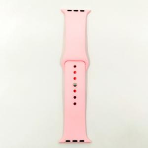 Силиконовый ремешок с софт-тач покрытием Watch 38-40мм Pink