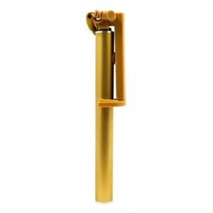 Компактная проводная металическая селфи палка V9 Mini Gold