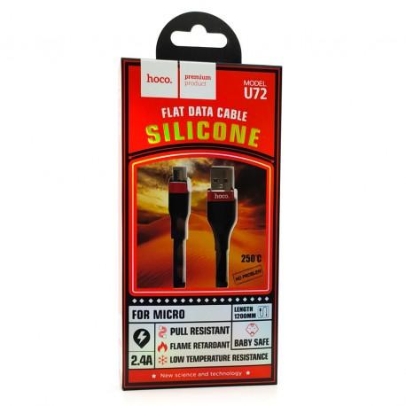 USB HOCO U46/U72 Super Silicone V8 Black
