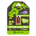 Двусторонняя флешка USB + Micro USB Lenyes 16GB (10677)