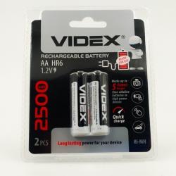 Аккумуляторы никель-металлогидридные Videx AA 2500 mAh (2 шт)
