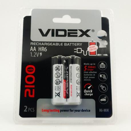 Аккумуляторы никель-металлогидридные AA Videx 2100 mAh (2 шт)