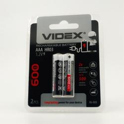Аккумуляторы никель-металлогидридные Videx AA 600 mAh (2 шт)