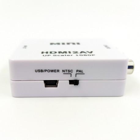 Преобразователь видеосигнала конвертер HDMI на AV (3 тюльпана)