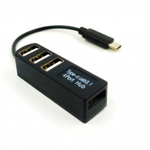 Хаб USB 3.1 / Type-C P-3101 (4 порта) Design for MacBook