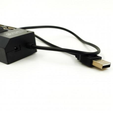 Хаб USB 2.0 с питанием/с выключателями (4 порта)