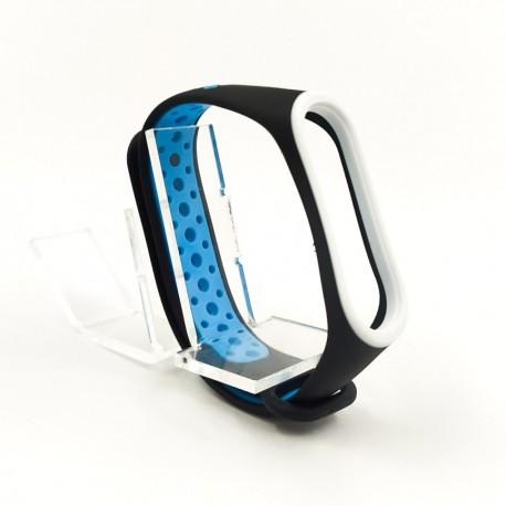 Браслет для MiBand 3/4 black-blue