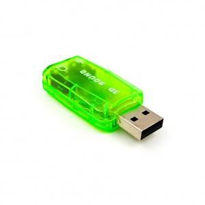 Компьютерный переходник USB звуковая карта 3D