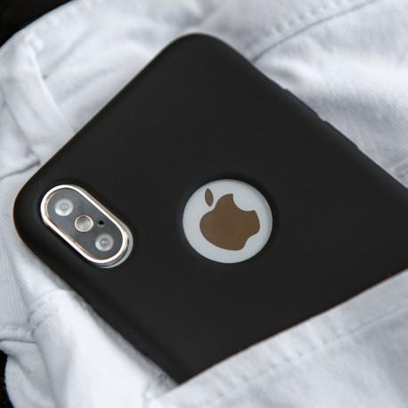 Силиконовый чехол Simin Style iPhone X/Xs Black (Черный)