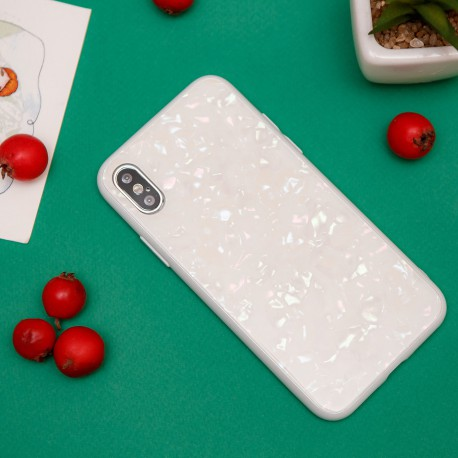 MOLAN MARBLE GLASS CASE Iphone Xs MAX White