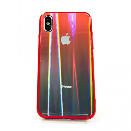 Gradient Glass Case Iphone XS Max wine-colored