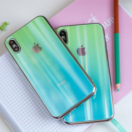 Gradient Glass Case Iphone XS Max aquamarine