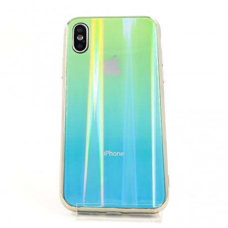 Gradient Glass Case Iphone X aquamarine