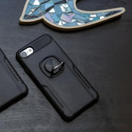 Противоударный чехол HONOR Premium с кольцом-держателем iPhone 7/8 Black