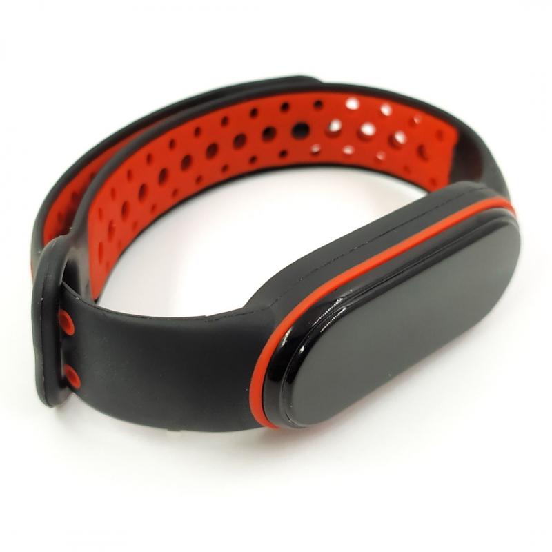 NEW Браслет для MiBand 5 black-red