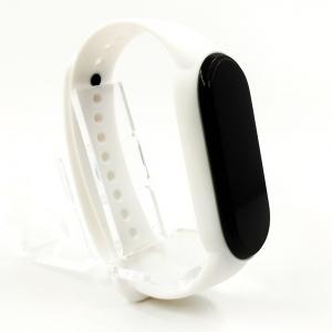 Силиконовый ремешок-браслет TCCG для Mi Band 5 White