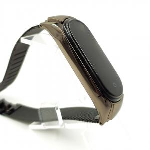 Металлический ремешок-браслет TCCG для Mi Band 5 Black