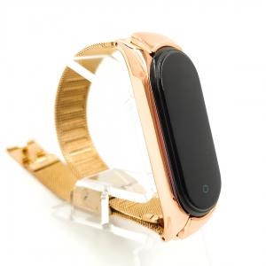Металлический ремешок-браслет TCCG для Mi Band 5 Rose Gold